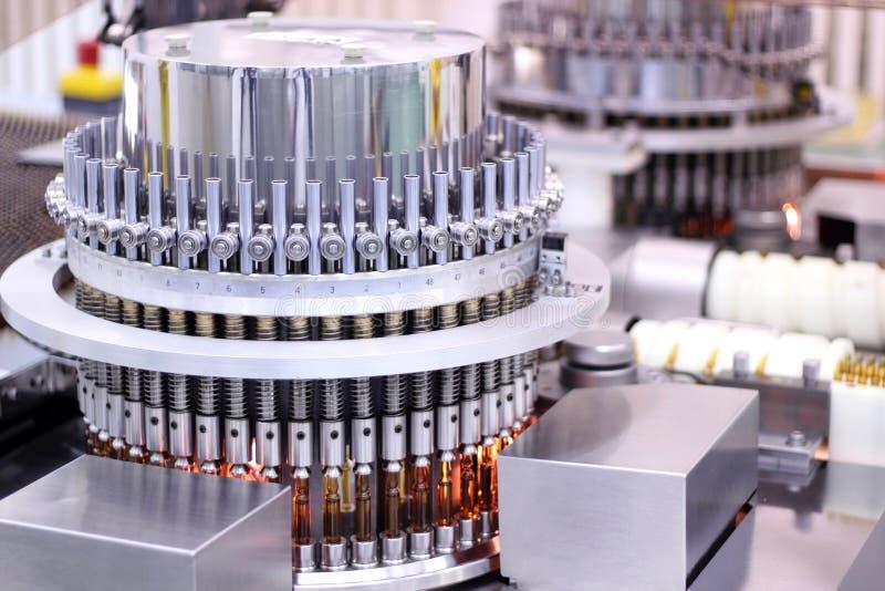 Máquina automática farmacêutica da inspeção foto de stock