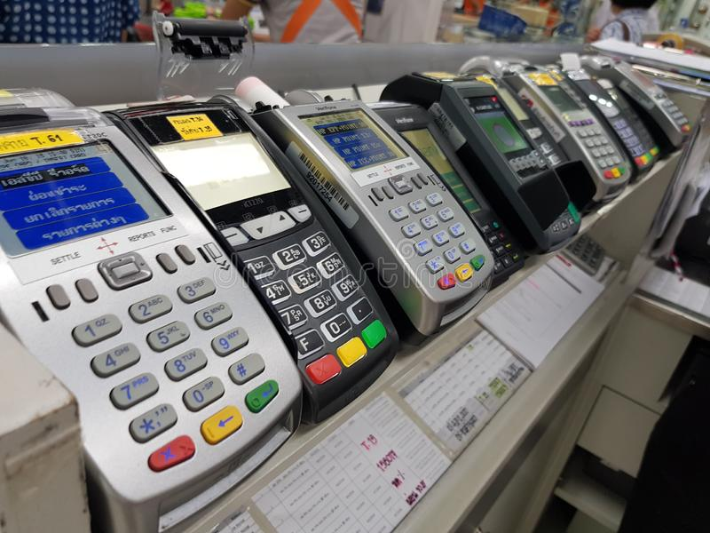 Máquina Banguecoque Tailândia do EDC - 14 de junho de 2018: Máquina do EDC em Shopp imagens de stock royalty free