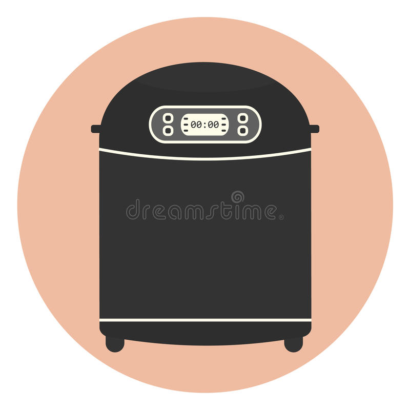 Máquina casera plana del fabricante de pan, dispositivo de cocina libre illustration