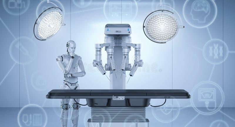 Máquina da cirurgia do robô ilustração stock