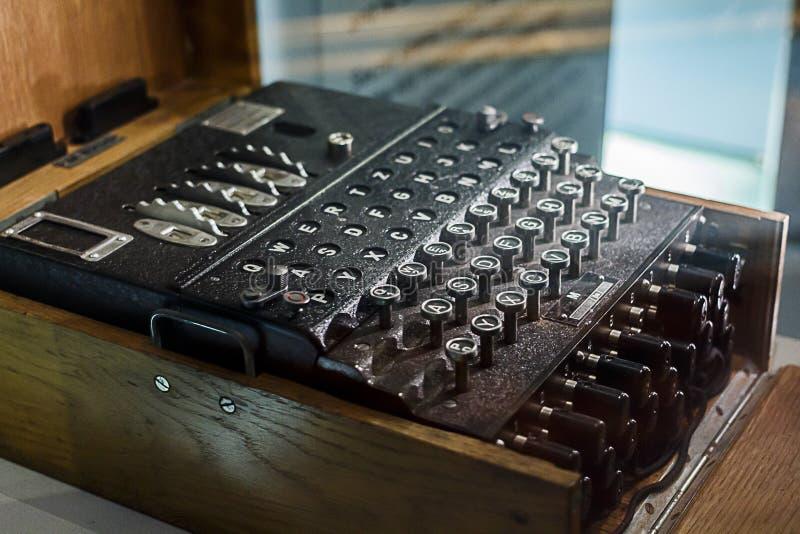 Máquina da codificação de Enigma imagens de stock