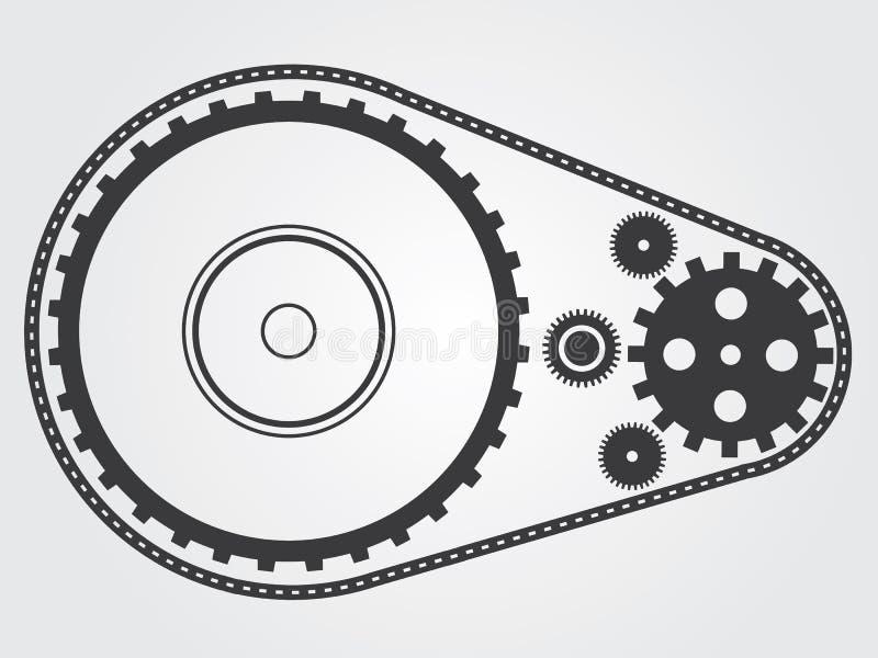 Máquina da coleção da engrenagem ilustração do vetor