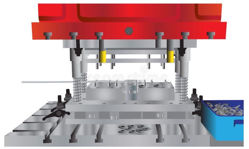 Máquina da imprensa hidráulica ilustração do vetor