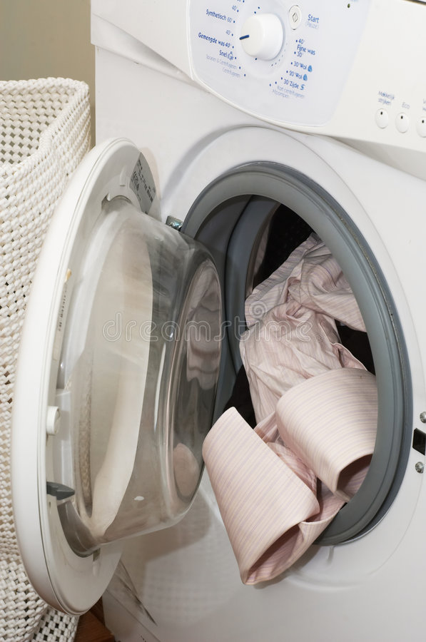 Máquina da lavagem foto de stock