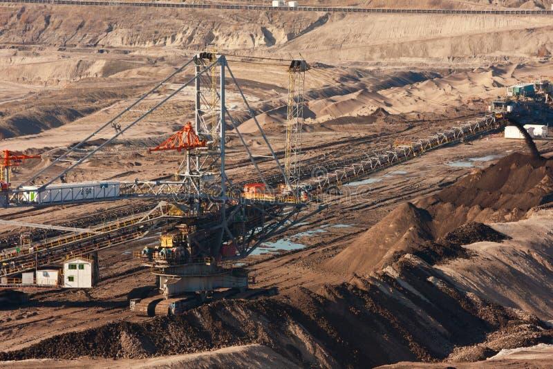 Máquina da máquina escavadora da mina de carvão fotografia de stock