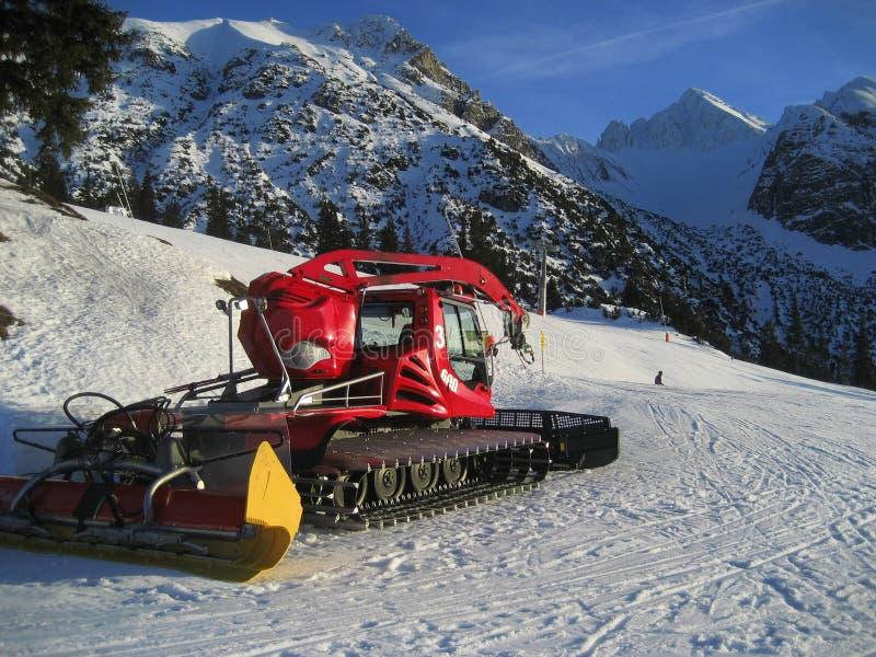 Máquina da preparação da neve fotografia de stock royalty free