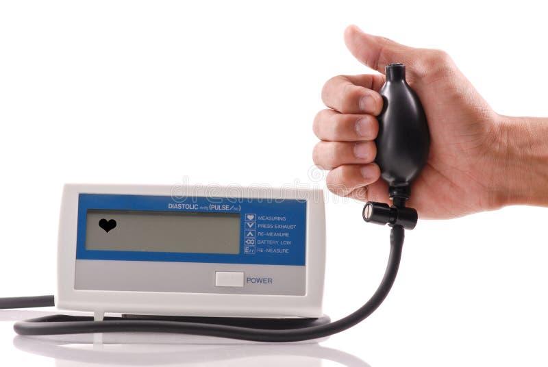 Máquina da pressão sanguínea foto de stock