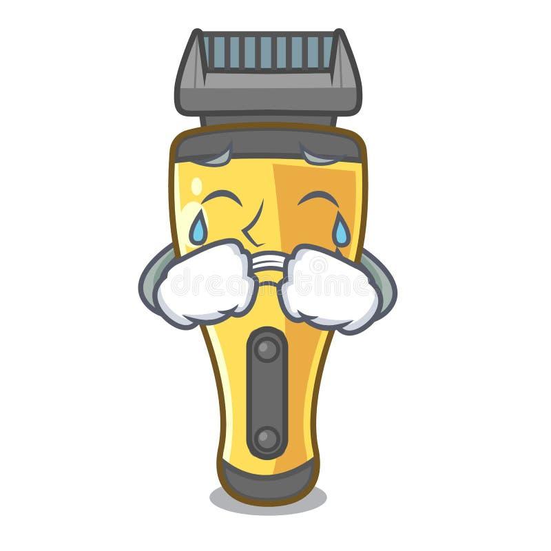 Máquina de afeitar eléctrica gritadora aislada con en la mascota libre illustration