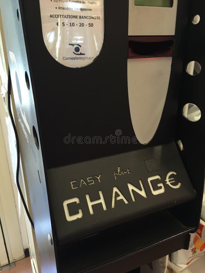 Máquina de cambio fotografía de archivo libre de regalías
