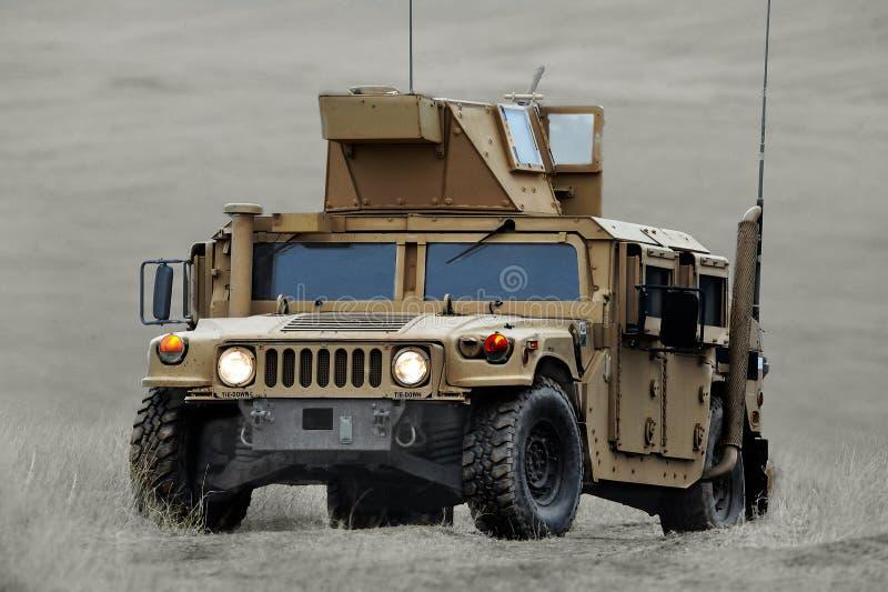 Máquina de combate dos E.U. HMMWV (Humvee) fotografia de stock royalty free