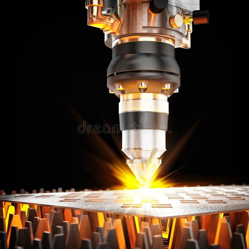 Máquina de corte do laser ilustração do vetor