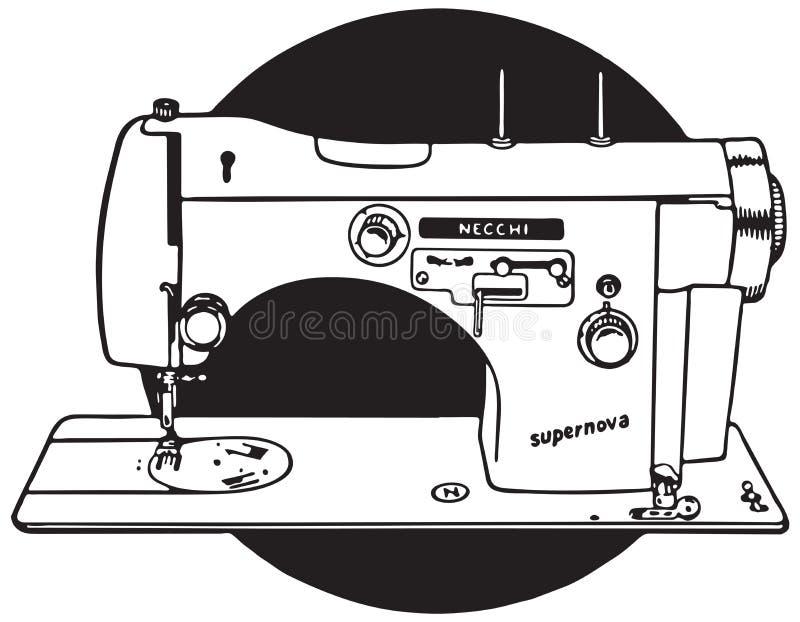 Máquina de costura 2 ilustração stock