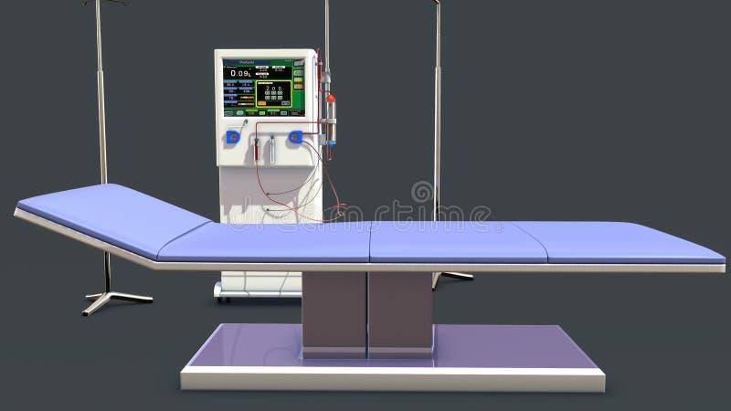 Máquina de diálise ilustração do vetor