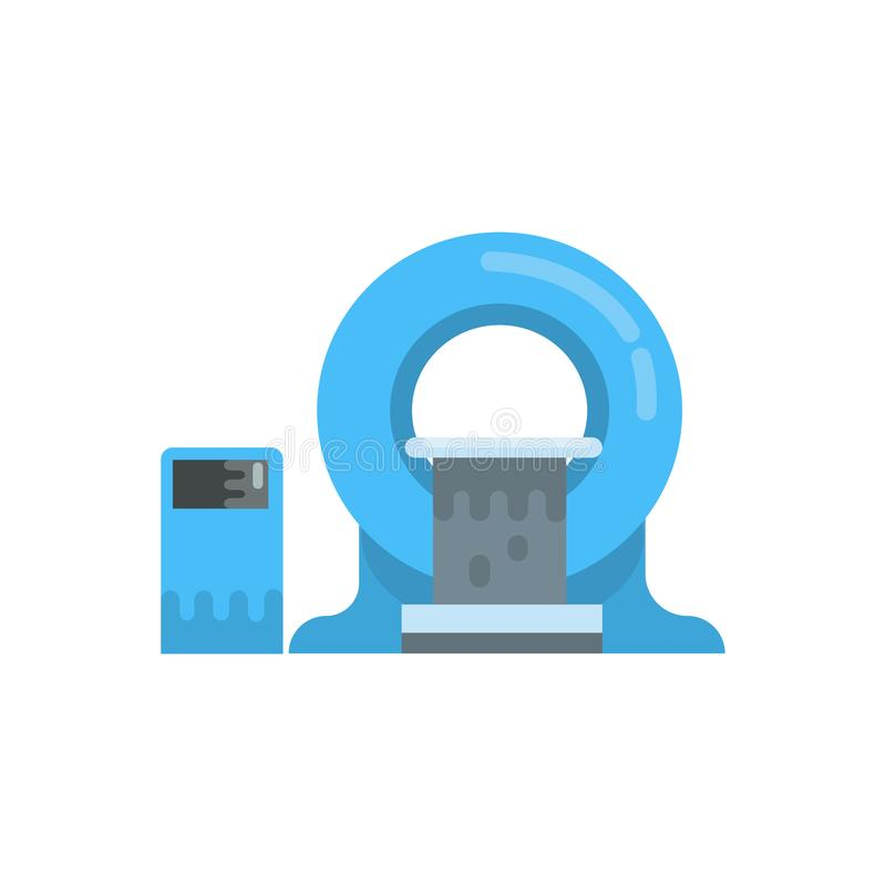 Máquina de diagnóstico de MRI, ejemplo de resonancia magnética nuclear del vector del equipo de la tomografía de la proyección de libre illustration
