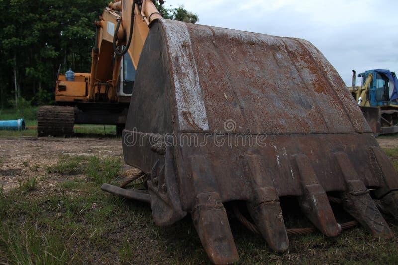 Máquina de dragagem de furo a maior, isolado foto de stock royalty free