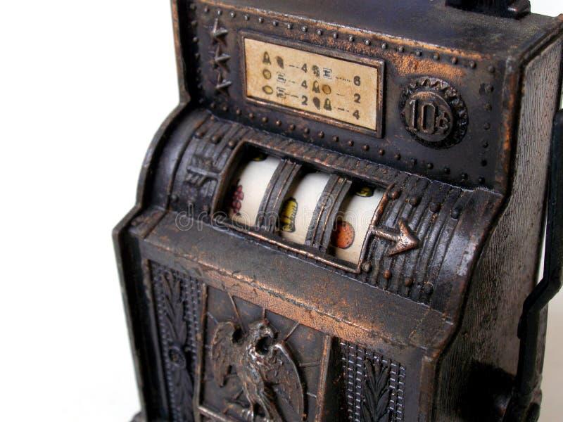 Máquina de entalhe antiga do brinquedo imagem de stock