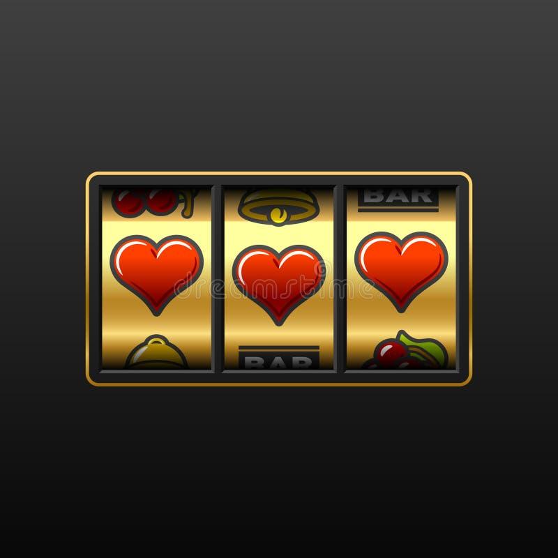 Máquina de entalhe do amor. Vetor. ilustração stock