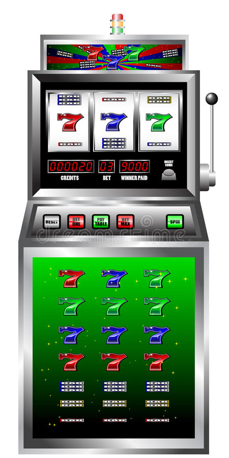 Máquina de entalhe do casino ilustração stock