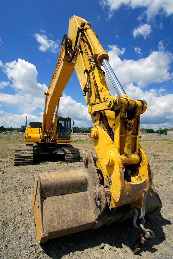 Máquina de escavação fotografia de stock