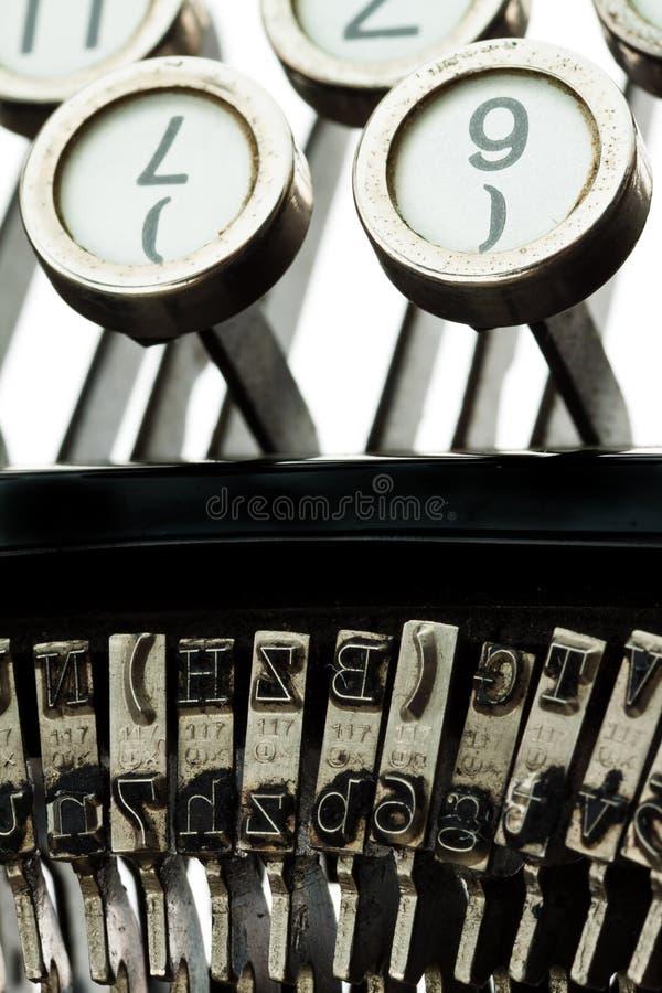 Máquina de escrever antiga, velha imagem de stock
