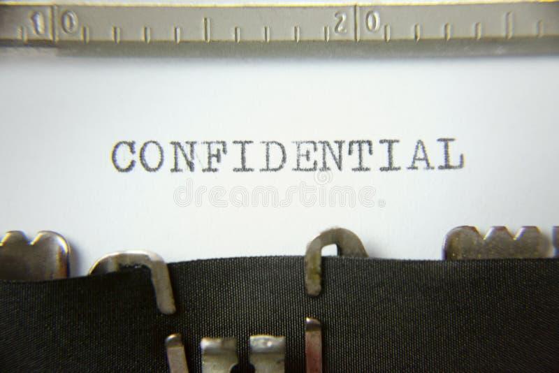 Máquina de escrever confidencial imagem de stock