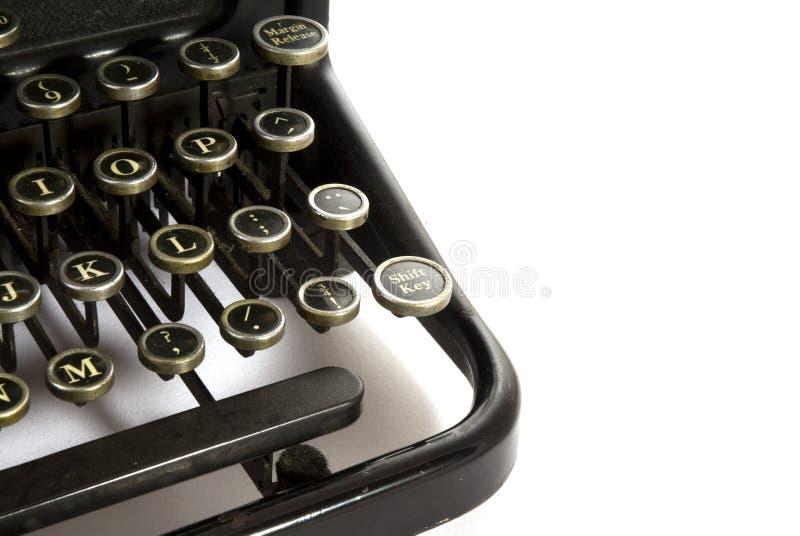 Máquina de escrever do detalhe fotografia de stock
