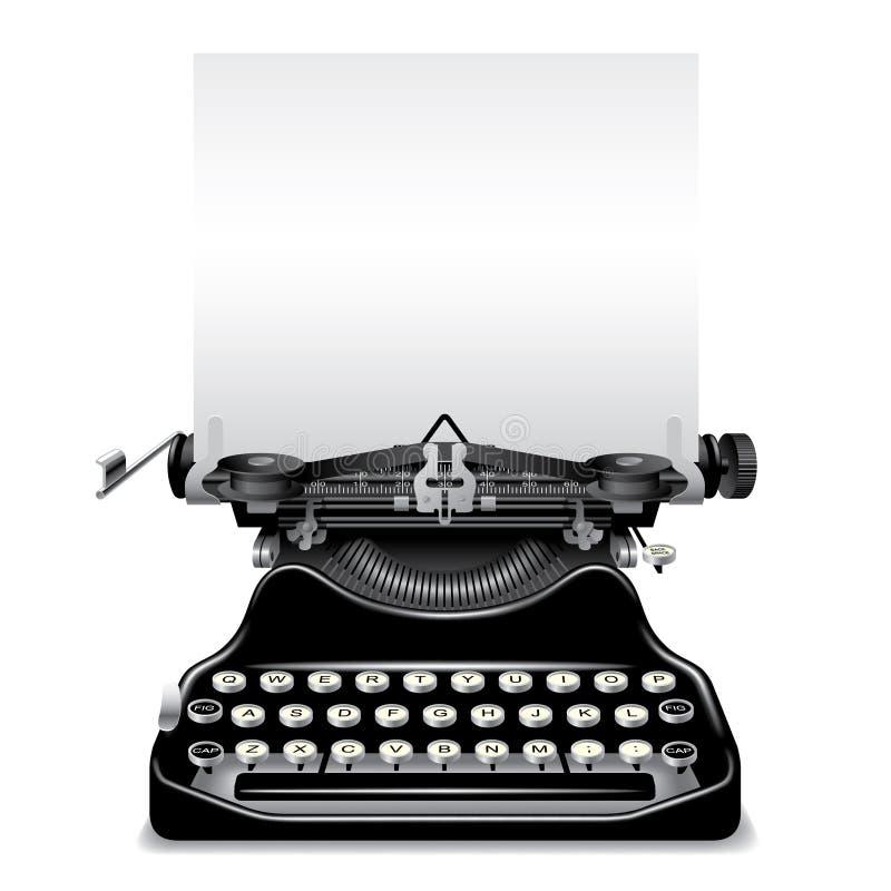 Máquina de escrever velha ilustração stock