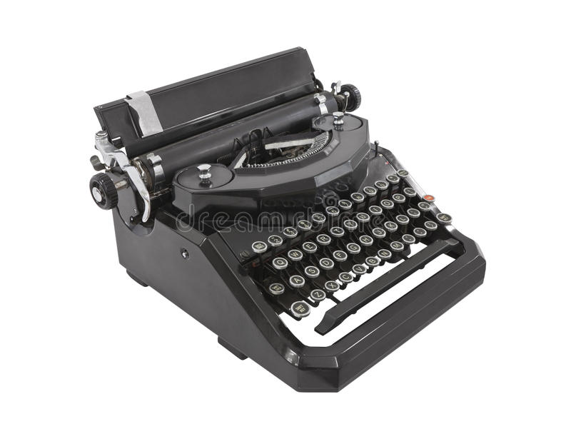Máquina de escrever velha isolada fotos de stock royalty free