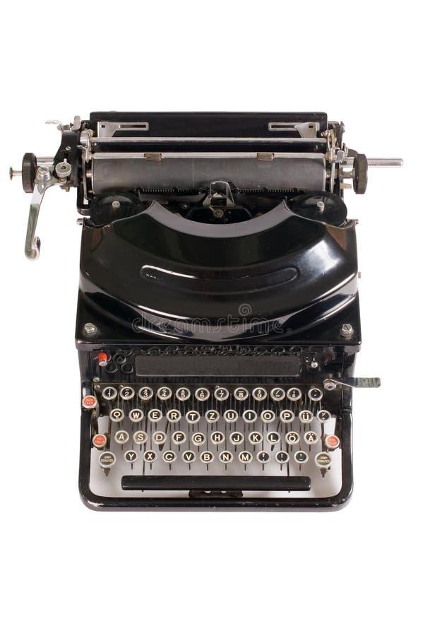 Máquina de escrever velha isolada no branco foto de stock royalty free