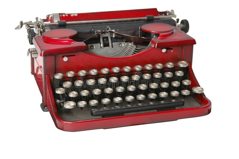 Máquina de escrever vermelha 1 fotos de stock