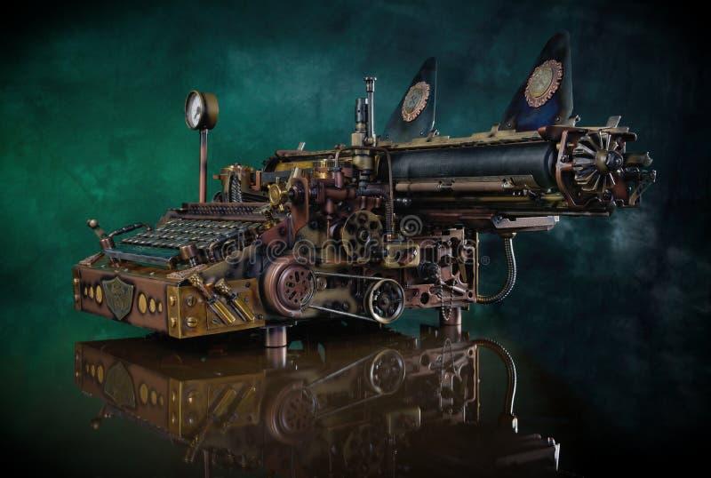 Máquina de escribir de Steampunk foto de archivo libre de regalías