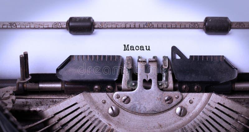 Máquina de escribir vieja - Macao fotografía de archivo