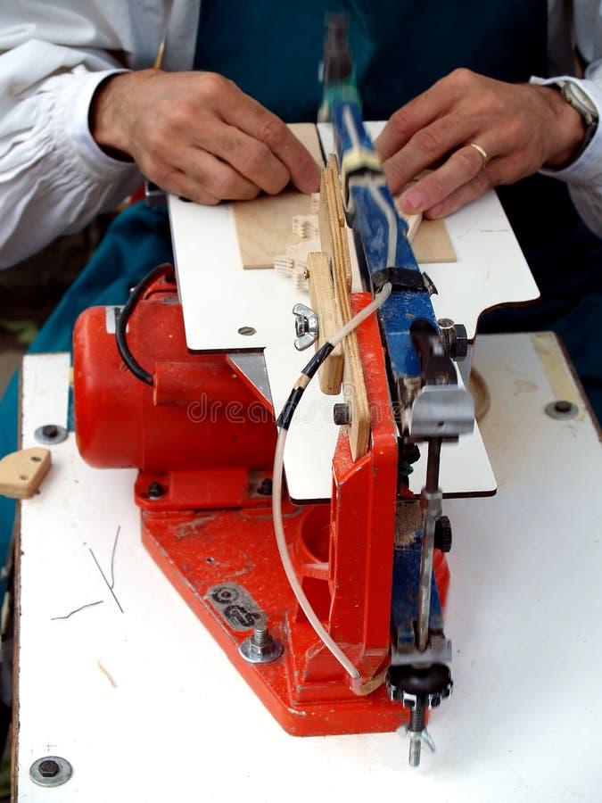 Máquina de estaca de madeira foto de stock royalty free