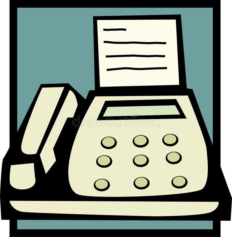 Máquina de fax ilustração royalty free
