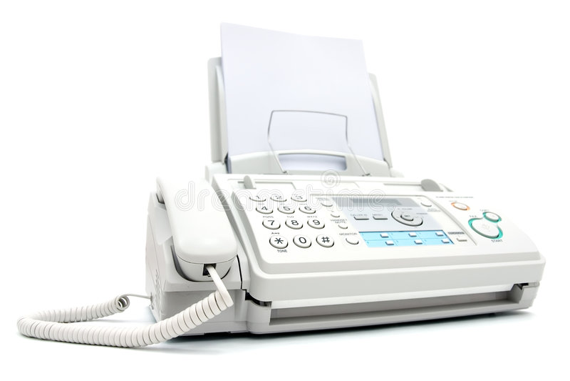 Máquina de fax fotos de stock