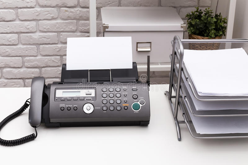 Máquina de fax foto de stock royalty free