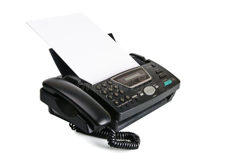Máquina de fax com original fotos de stock royalty free