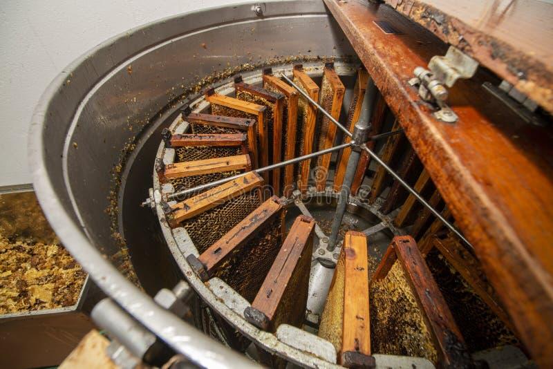 Máquina de giro da extração do mel foto de stock royalty free
