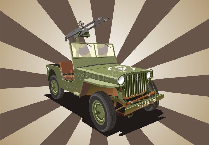 Máquina de guerra de Willis del jeep libre illustration