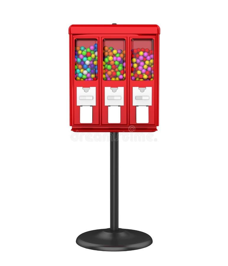 Máquina de Gumball del caramelo aislada stock de ilustración