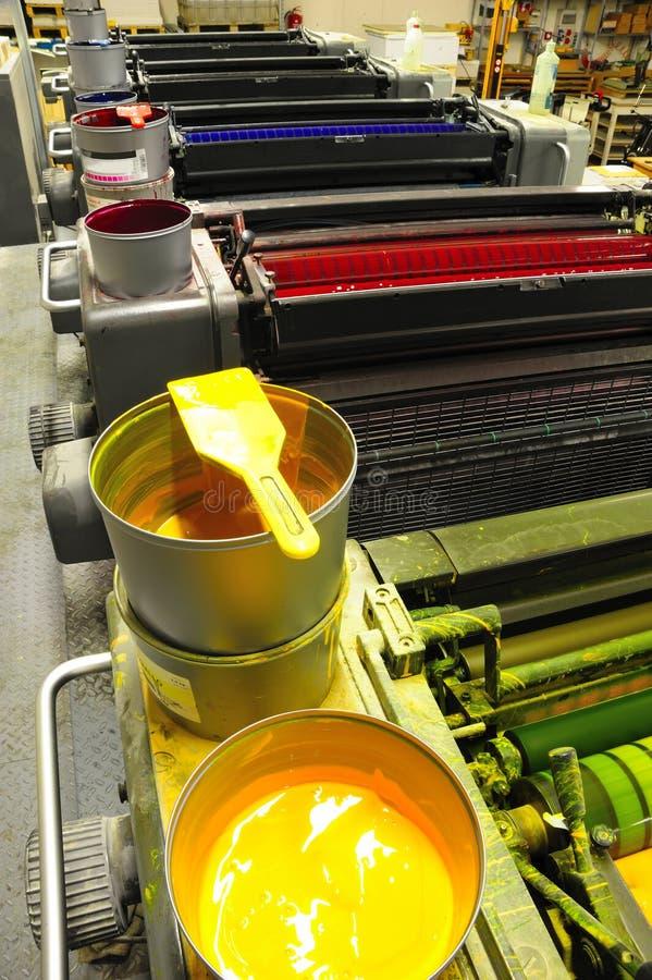 Máquina de impresión en offset fotografía de archivo libre de regalías