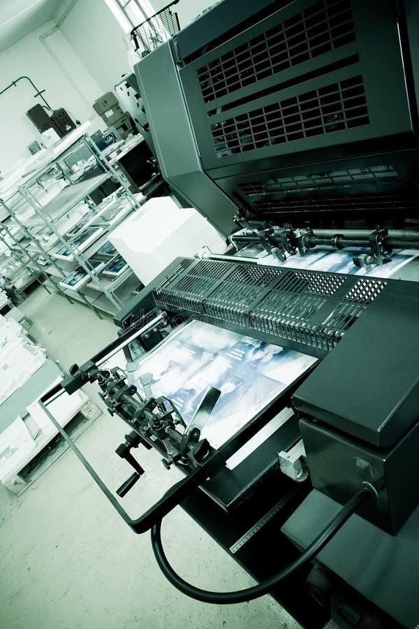 Máquina de impresión en offset fotografía de archivo