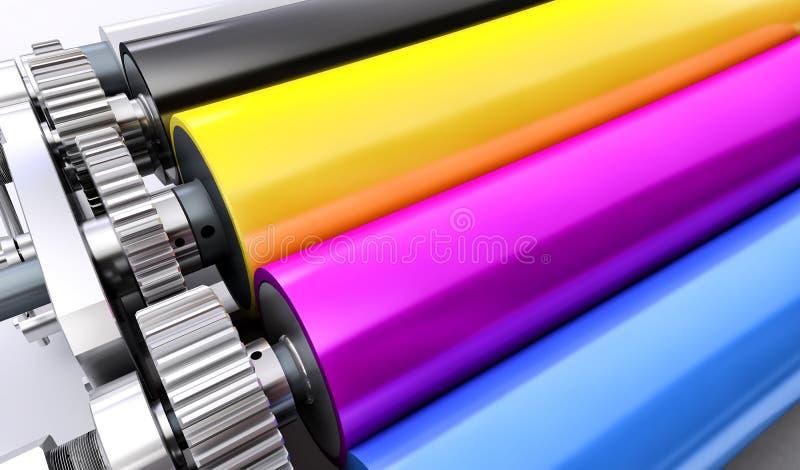 Máquina de impressão ilustração royalty free