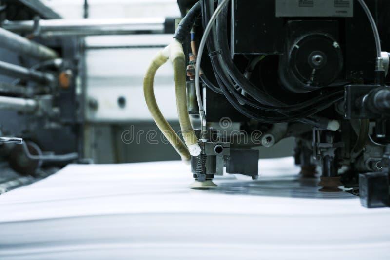 Máquina de impressão deslocada foto de stock
