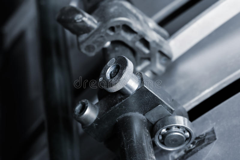 Máquina de impressão deslocada das ferramentas imagens de stock