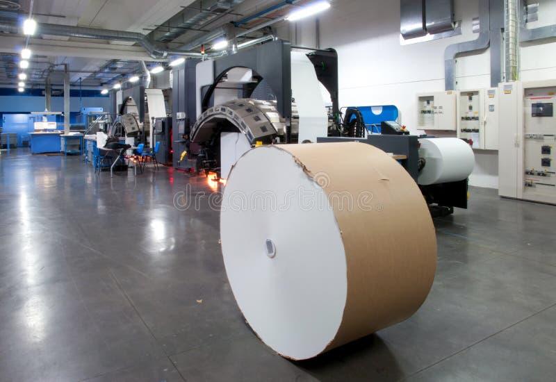 Máquina de impressão: imprensa de Web digital imagem de stock