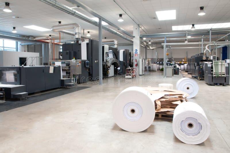 Máquina de impressão: imprensa de Web digital imagem de stock royalty free
