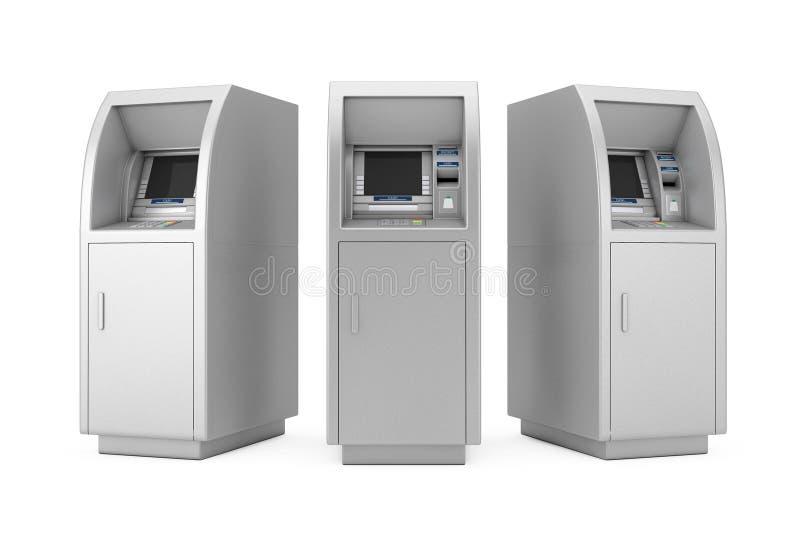 Máquina de la atmósfera del efectivo del banco representación 3d
