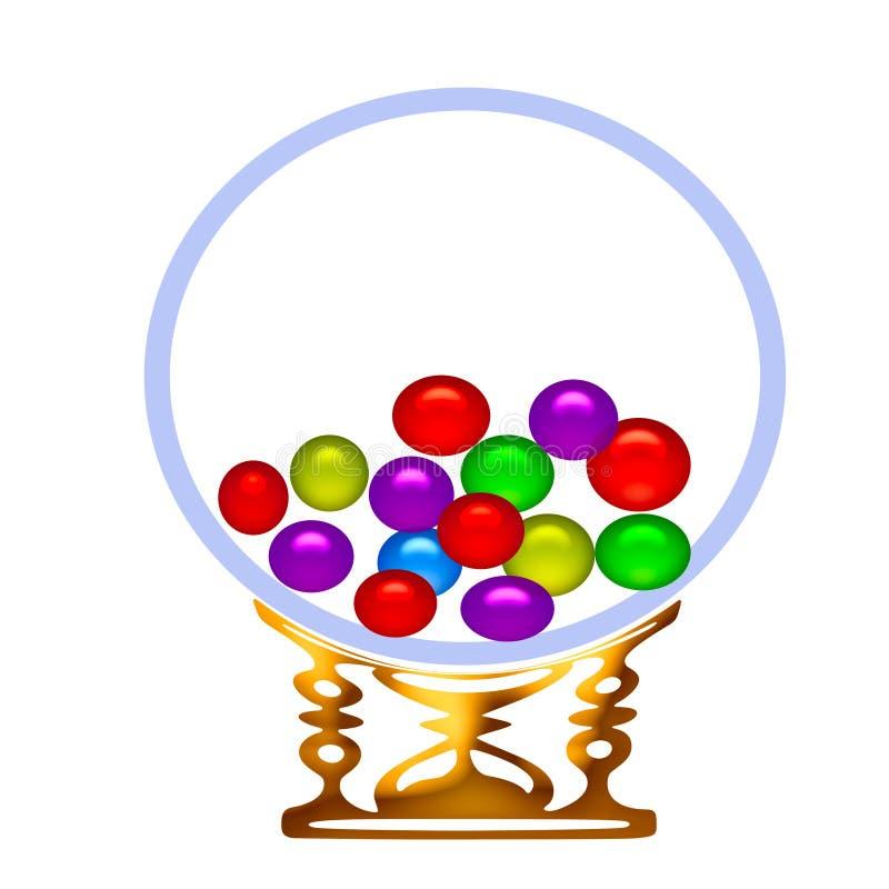 Máquina de la bola de goma stock de ilustración