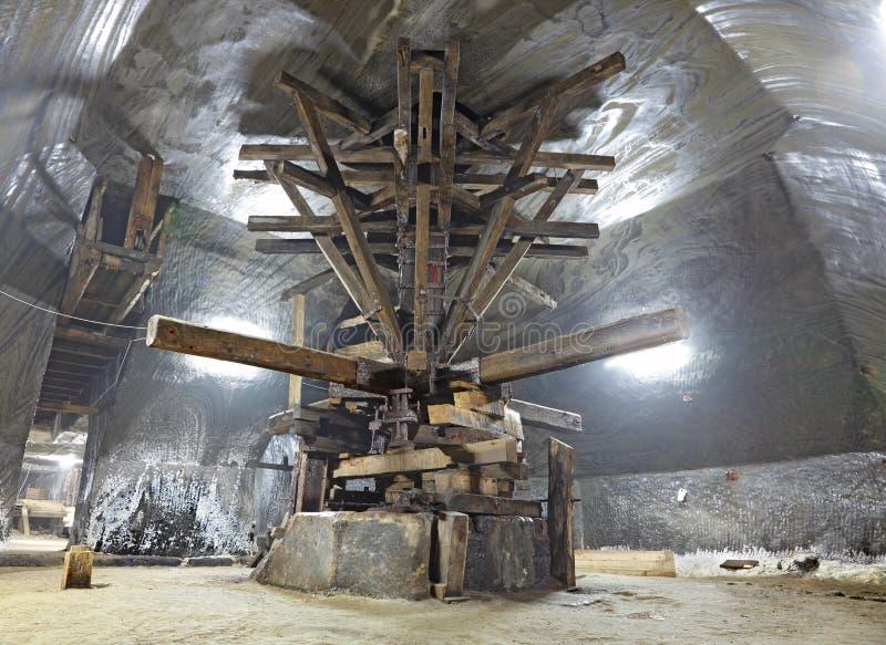 Máquina de la extracción de la sal foto de archivo libre de regalías